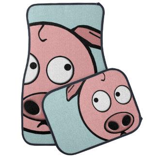 Cute Curious Pigs Car Mat