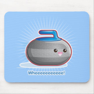 Cute Curling Stone Mouse Mat