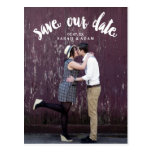 Cute Curved Text | Photo Save the Date Postcard
