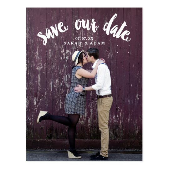 Cute Curved Text | Photo Save the Date