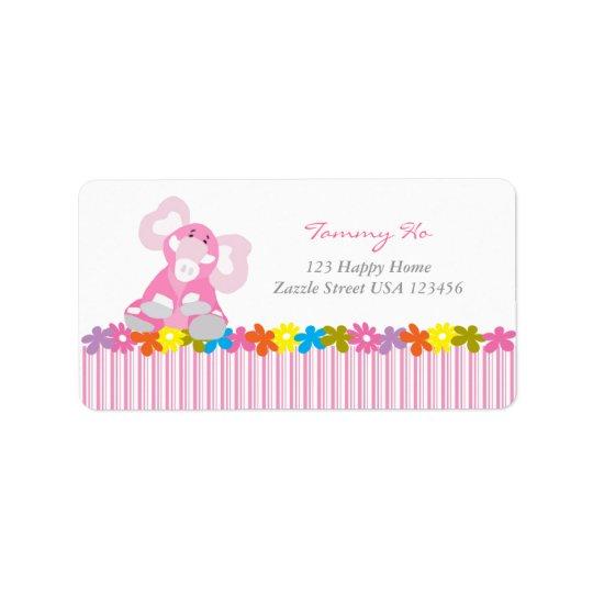 Cute Custom Address Label - Elephant