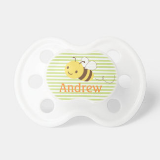 Cute Custom Bumblebee Pacifier w Baby's Name