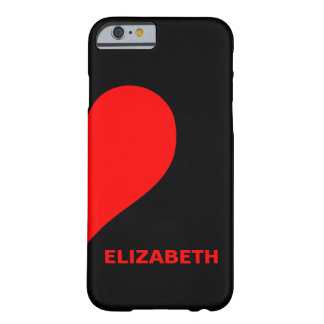 Cute Custom Couple Names Matching Right Heart Barely There iPhone 6 Case