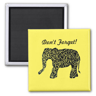 Cute Custom Elephant Magnet