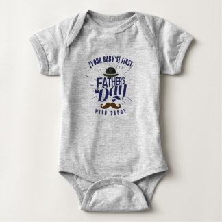 Cute Custom First Father's Day Baby Onsie Bodysuit