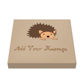Cute Custom Hedgehog Nursery Wrapped Canvas
