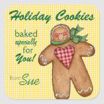 Cute Custom Holiday Cookie Stickers