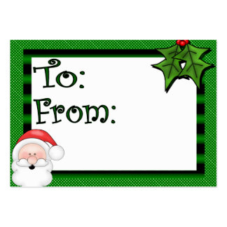 Cute Custom Holiday Gift Tag Pack Of Chubby Business Cards