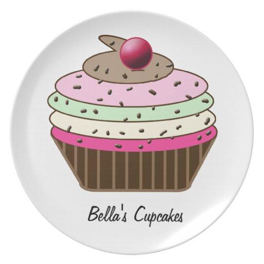 Cute custom personalised cupcake plate