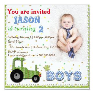 Cute Custom Photo Boys' Invitation Card
