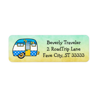 Cute Custom Road Trip Return Address Label