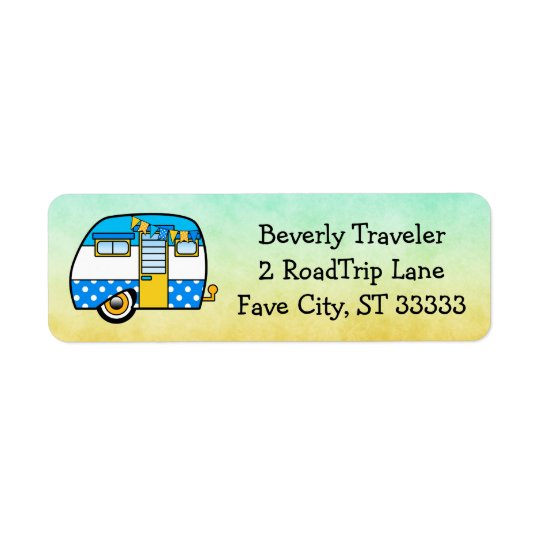 Cute Custom Road Trip Return Address Label