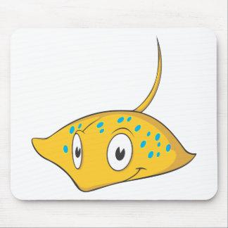 Cute Custom Stingray Cartoon Shirt Mousepad