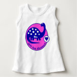 Cute Customisable Bright Pink Dinosaur for Girls T-shirts