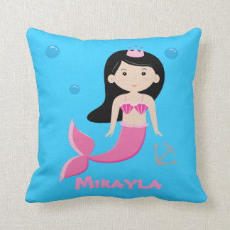Cute Customisable Mermaid Pillow - Under The Sea