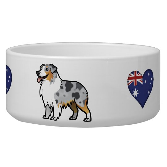 Cute Customisable Pet on Country Flag Dog Water Bowls