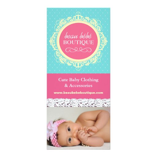 Cute Customizable Baby Boutique Rack Card