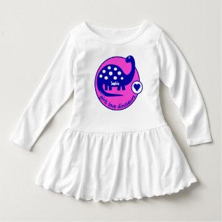 Cute Customizable Bright Pink Dinosaur for Girls Dress