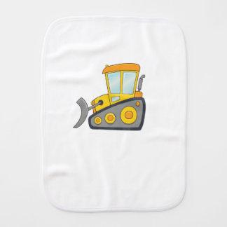 Cute Customizable Bulldozer Burp Cloth