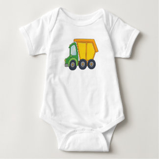 Cute Customizable Dump Truck Baby Bodysuit