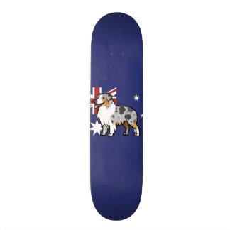 Cute Customizable Pet on Country Flag 21.6 Cm Skateboard Deck