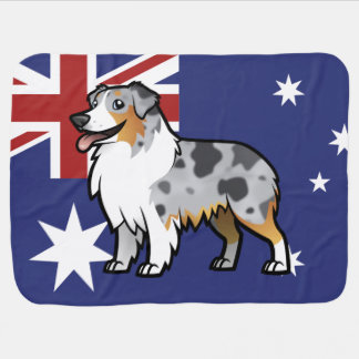 Cute Customizable Pet on Country Flag Baby Blanket