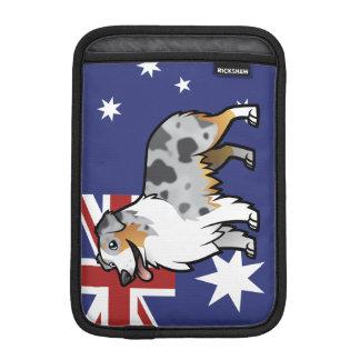 Cute Customizable Pet on Country Flag iPad Mini Sleeve