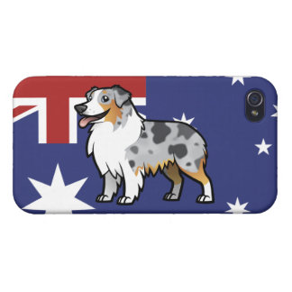 Cute Customizable Pet on Country Flag iPhone 4/4S Case