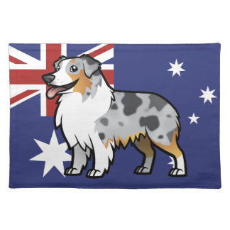 Cute Customizable Pet on Country Flag Placemats