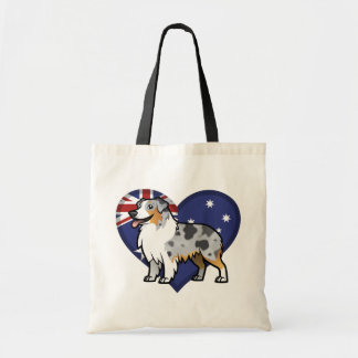Cute Customizable Pet on Country Flag Canvas Bag