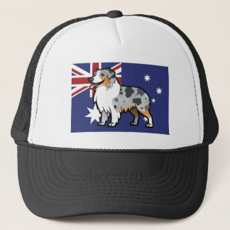 Cute Customizable Pet on Country Flag Trucker Hat