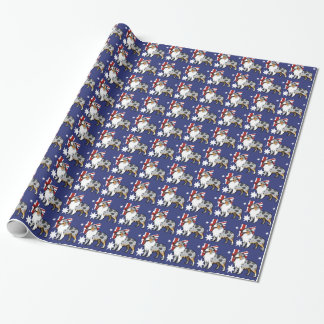 Cute Customizable Pet on Country Flag Wrapping Paper