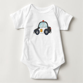 Cute Customizable Police Car Baby Bodysuit