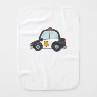 Cute Customizable Police Car Burp Cloth