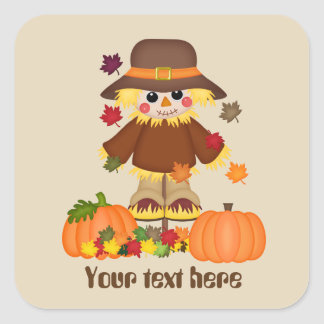 Cute customizable scarecrow Seasonal Fall sticker