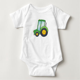 Cute Customizable Tractor Baby Bodysuit
