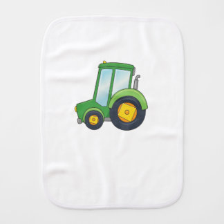 Cute Customizable Tractor Burp Cloth