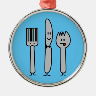Cute Cutlery Utensils Fork Knife Spork Spoon Happy Christmas Ornament