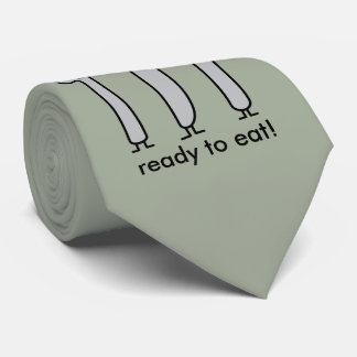 Cute Cutlery Utensils Fork Knife Spork Spoon Happy Tie