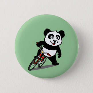 Cute Cycling Panda 6 Cm Round Badge