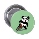 Cute Cycling Panda 6 Cm Round Badge