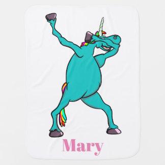 Cute Dab Dance Unicorn Dabbing Baby Blanket