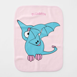 Cute Dabbing Flying Funny Pterodactyl Dinosaur Burp Cloths