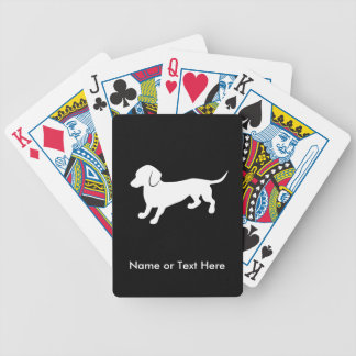 Cute Dachshund Bicycle Playing Cards