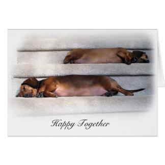 Cute Dachshund Card