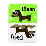 Cute Dachshund Clean / Dirty Dishwasher Magnet