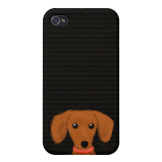 Cute Dachshund Cover For iPhone 4