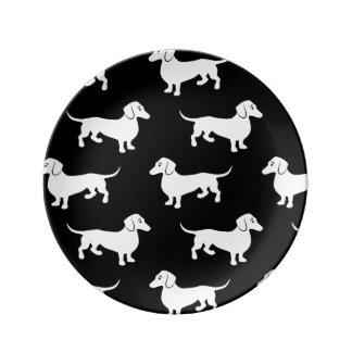 Cute Dachshund Doxie Pattern Plate