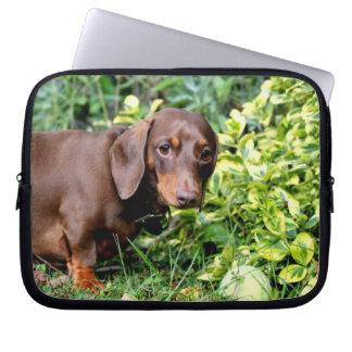 cute dachshund laptop case