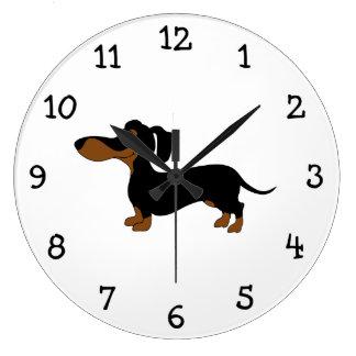 Cute Dachshund Large Clock